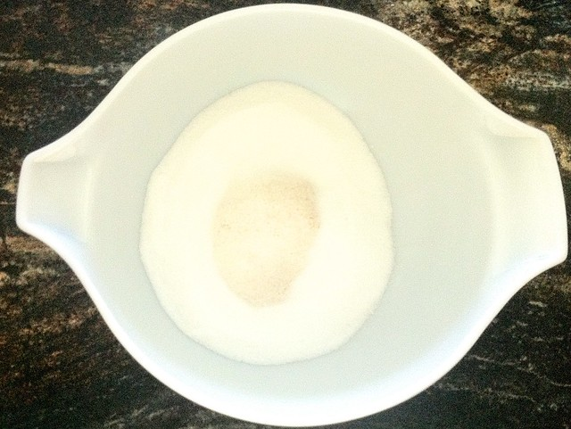 Dry Ingredients with Sugar in Large Bowl