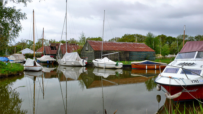 Moorings on Hickling Broad