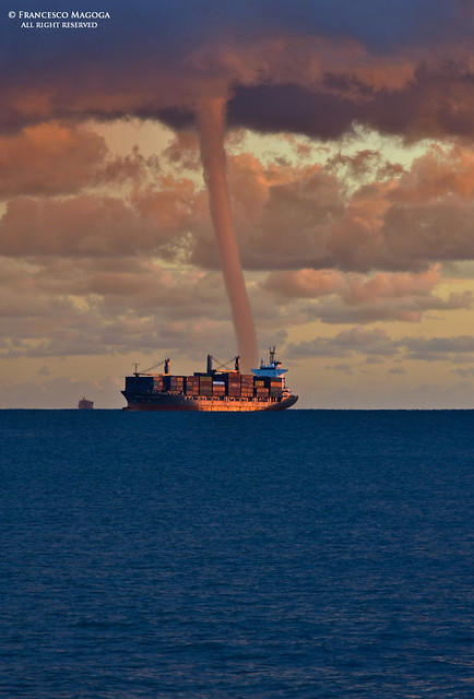 Sudden waterspout on the gulf of Genoa, part III