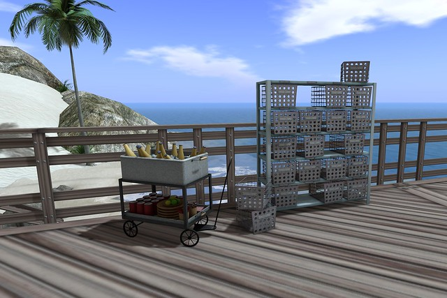 Second Spaces - City Pool Beverage Cart & Lockers