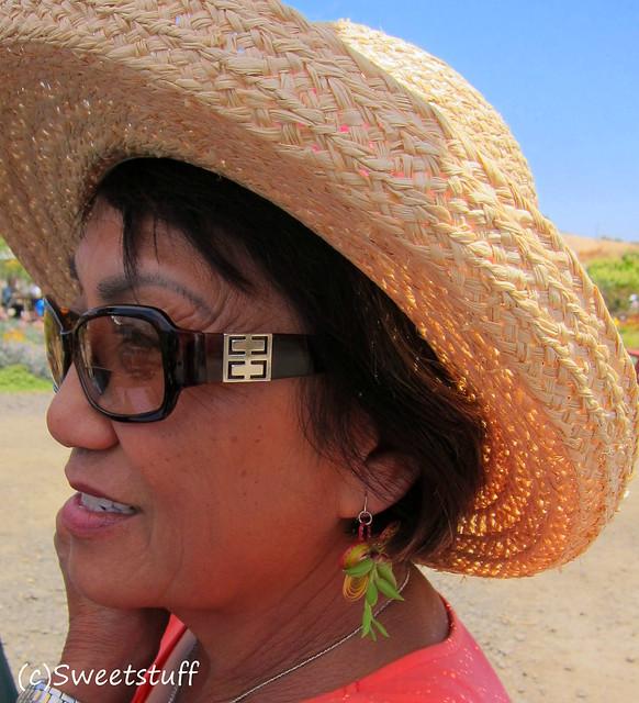 Laura Balaoro and succulent earrings