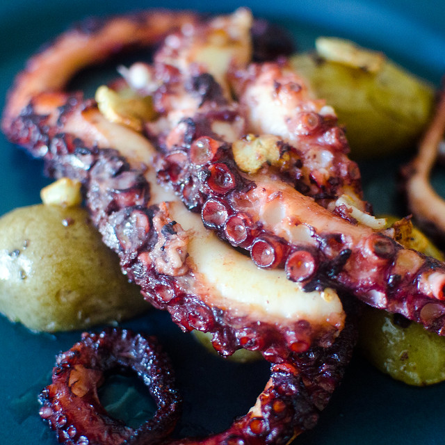 Octopus with Garlic and Potato. Taste from Portugal Polvo à Lagareiro.