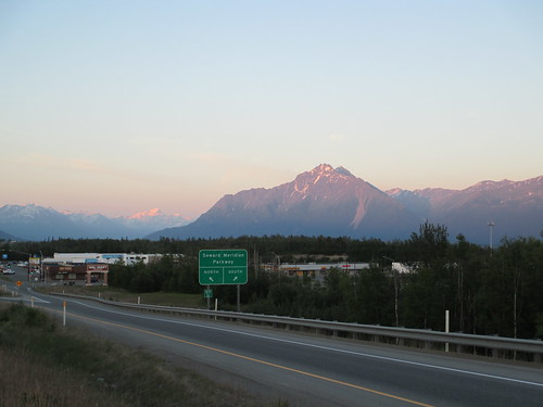 sunset mountains alaska dusk parkshighway wasilla stateroute3
