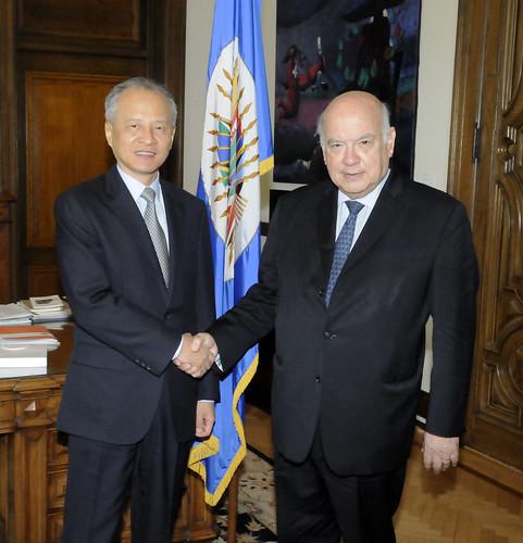 Secretario General recibió al Observador Permanente de China ante la OEA