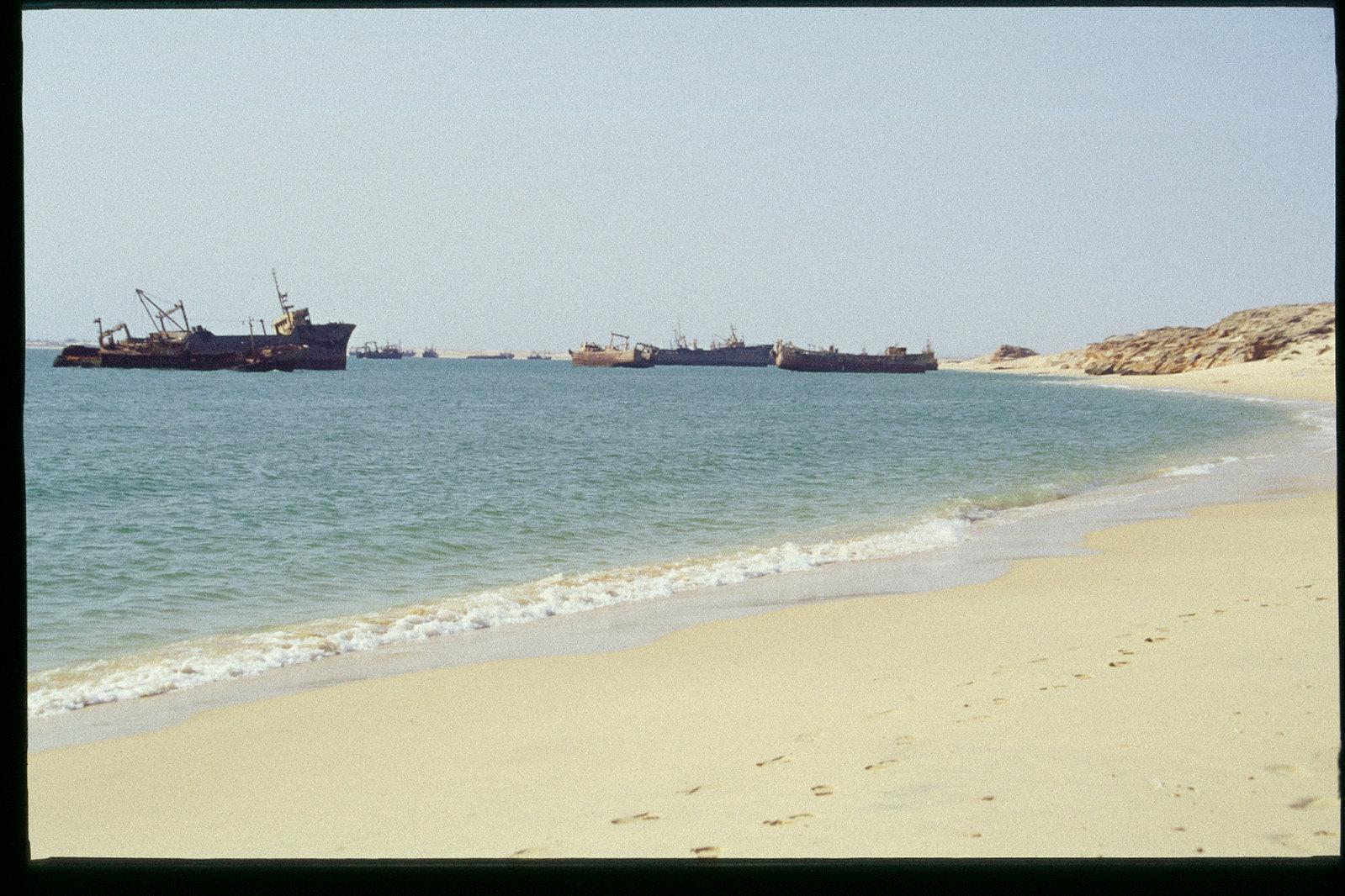 Mauritanie - Banc d'Arguin - Le cimetière des bateaux