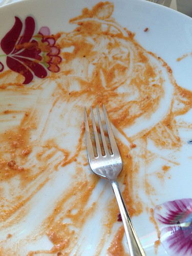 clean plates! Pasta alla bourbon