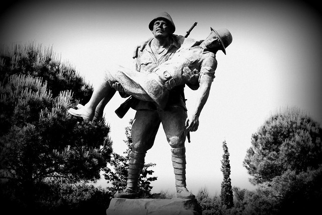 Statue at Gallipoli Park