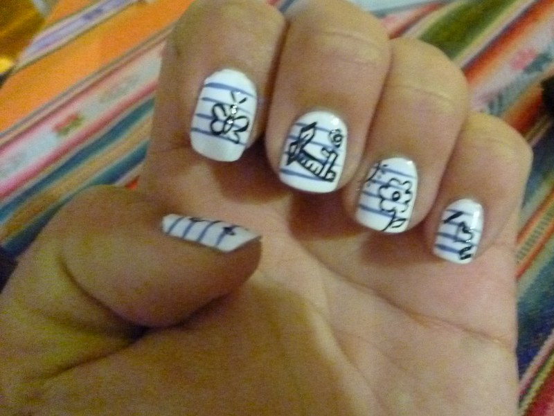 My nails look like an exercise book. I love them!