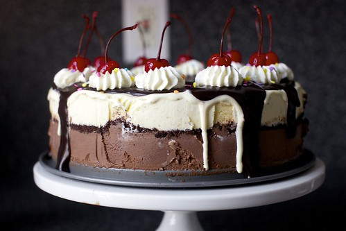 hot. fudge. sundae. cake.