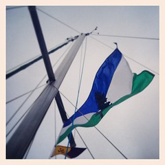 Sailing under the Cascadia flag.