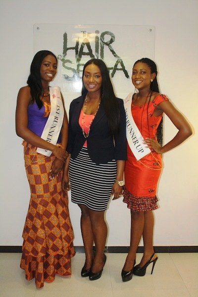 Miss Ghana 2013 winners visit Hair Senta (10)