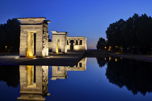 madrid sunset españa reflections atardecer temple spain bluehour hdr templo reflejos templodedebod