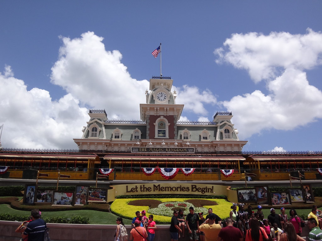 Entrance of Disney's Magic Kingdom