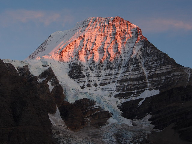 Sunset on Mt Robson