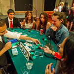 13-003 -- Students enjoy Casino Night during pre-orientation activities.
