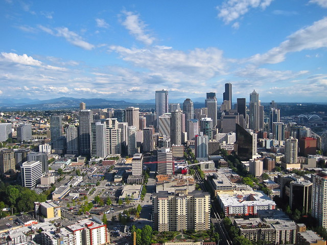 View of buildings in Downtown, Seattle, Washington