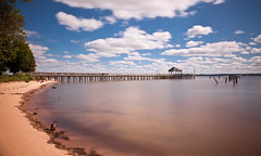 14 Sep. 2013. Leesylvania State Park, VA.  Long Exposure Fishing Pier