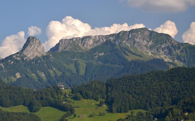 The Dent de Jaman (1875 m) and the Rochers-de-Naye (2042 m) above Montreux