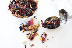 tea leaves fruit