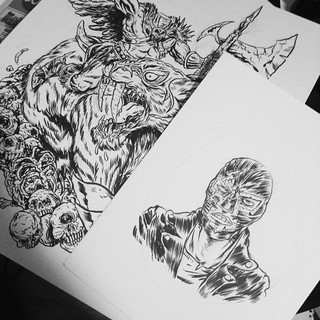 @lukeyatesart is going to be the lucky owner of these two original pieces