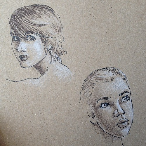 Playing around with toned paper.