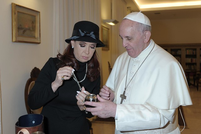 Pope Francis meets with Argentinian President Cristina Fernandez de Kirchner