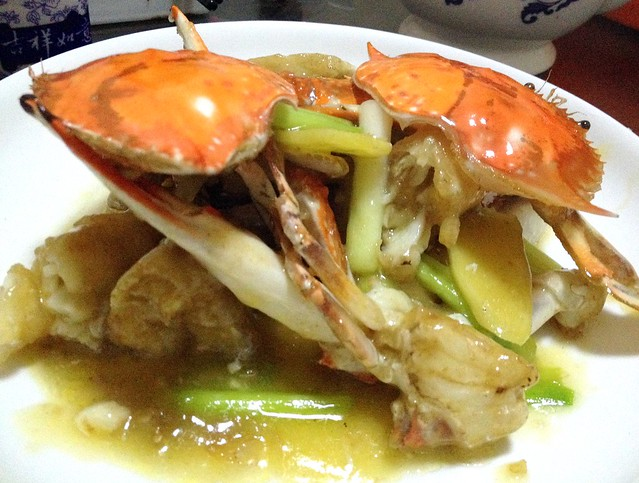 Crab in Ginger and Onion Sauce