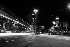 Central Station - Intersection of George and Pitt (B&W heavy contrast)