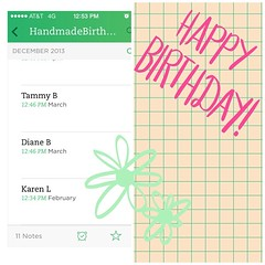 Starting my Evernote notes for #handmadebirthdayclub2014 so I can get organized.