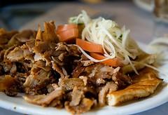 meal(1.0), pulled pork(1.0), carnitas(1.0), produce(1.0), food(1.0), dish(1.0), bulgogi(1.0), cuisine(1.0),