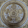 Ornate gold detail - ornamental panel, Versailles - squared circle by Monceau