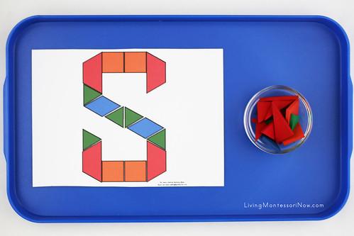 Letter S Design Tray