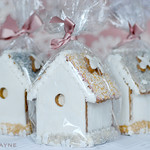 Gingerbread bird houses all packaged up!