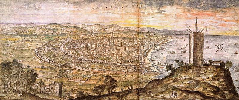 Antony van den Wyngaerde - Barcelona (c.1563)