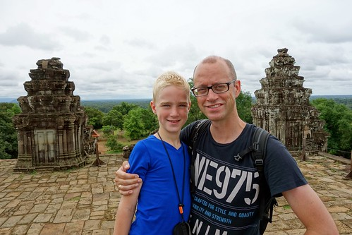 Me and my son at Phnom Bakheng