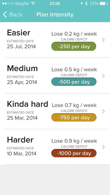 Fitbit iOS App - Food Plan Step 4