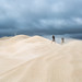 Photographers in wild sand dunes, South Australia by Robert Lang Photography