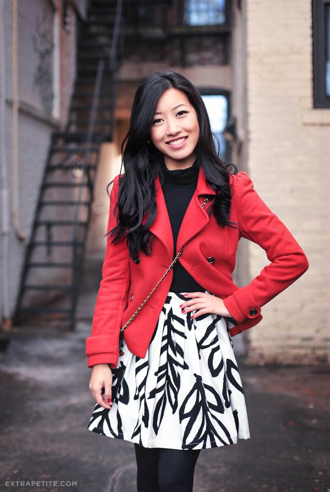 red jacket leaf skirt3