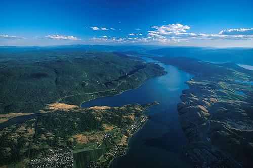 Kalamalka Lake in Vernon, North Okanagan Valley, British Columbia, Canada