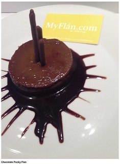 Chocolate Pocky Flan