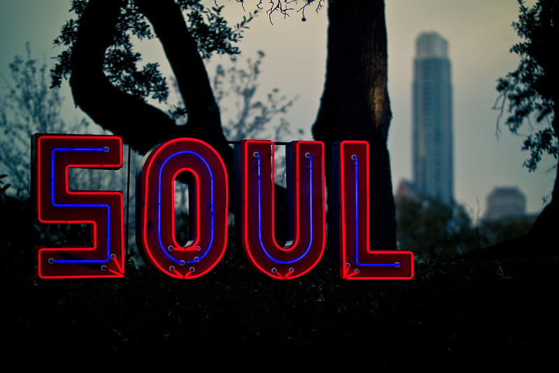 Soul Neon Sign at Hotel Saint Cecilia