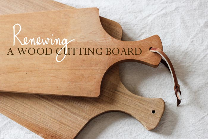 Renewing a Wood Cutting Board