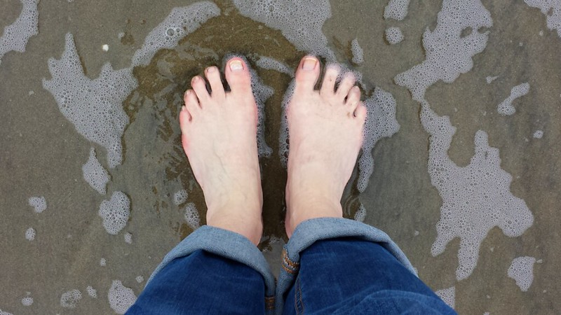 Toes in the Pacific