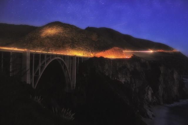 Bridge In California coast