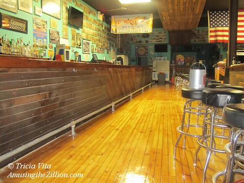 Newly Refinished Floor at Ruby's Bar