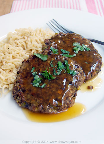 "Vegan ""Salisbury Steak"" Asian Style"