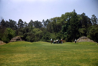 golf course with pyramids