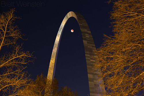 Eclipse Under the Arch