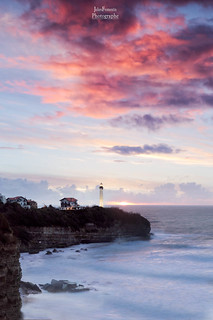 Sunset Over Lighthouse, Biarritz