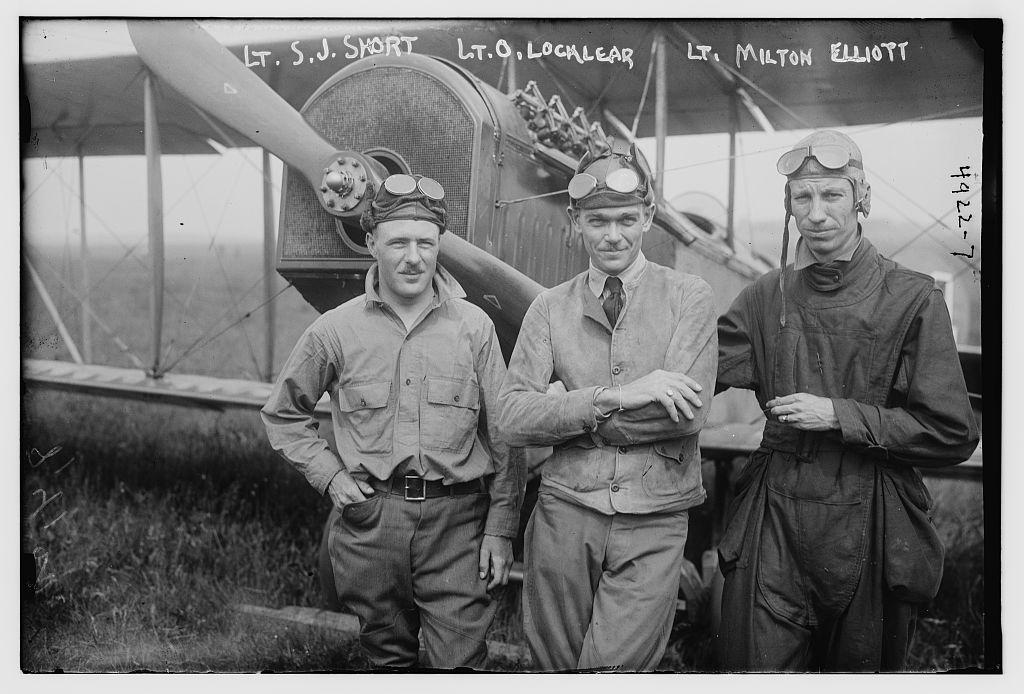 Lt. S.J. Short, Lt. O. Locklear, Lt. Milton Elliott (LOC)